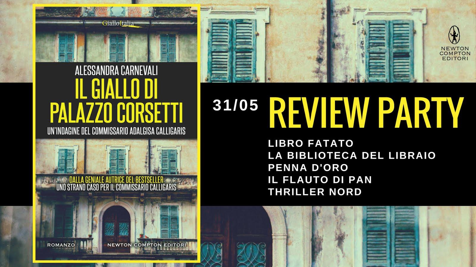 Review Party: Il giallo di palazzo Corsetti di Alessandra Carnevali