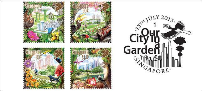 Our City In A Garden - Stamp Set