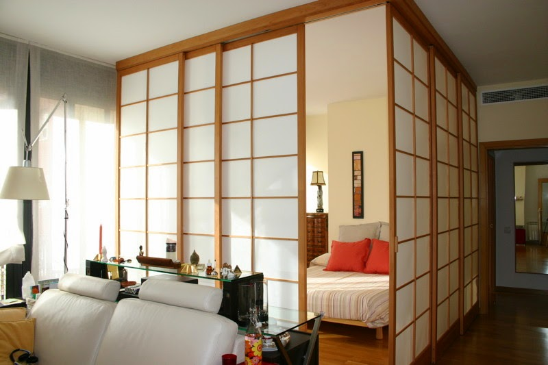 Decoracion japonesa salon for Puertas japonesas