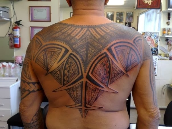 12 best tribal back tattoos designs for Back tribal tattoo