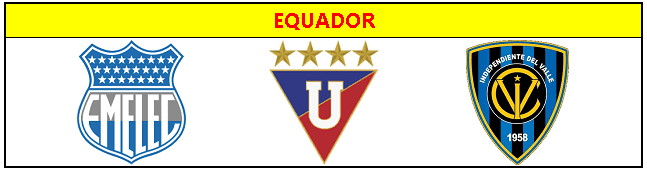 Classificados pra Libertadores do Equador