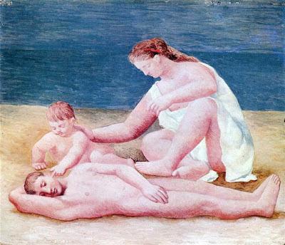 Familia a orillas del mar de Picasso