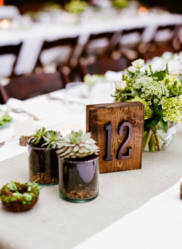 rustic wood table number idea