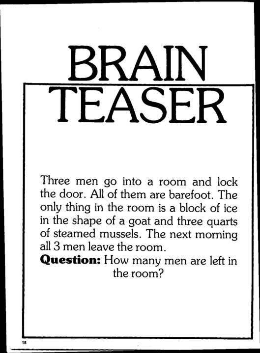 Légend image with regard to brain teasers for seniors printable