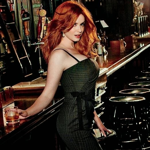 """I love it when a man orders Scotch."" - Christina Hendricks"