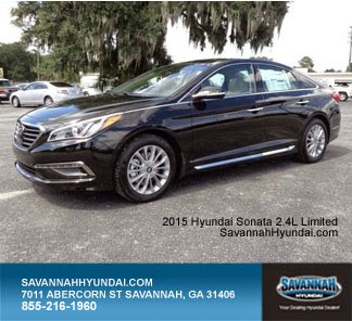 2015 Hyundai Sonata Limited,Savannah GA, Savannah Hyundai, New Car Specials