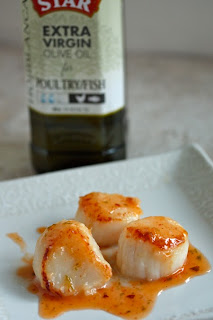 Seared Scallops with Citrus Vinaigrette