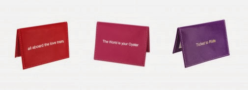 leather oyster card holder with witty message