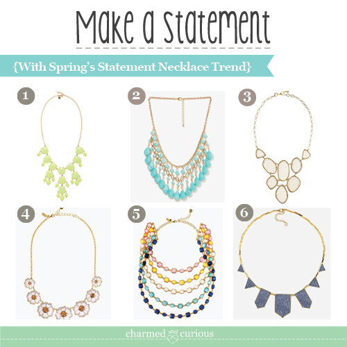 Make a Statement - with Spring's Statement Necklace Trend