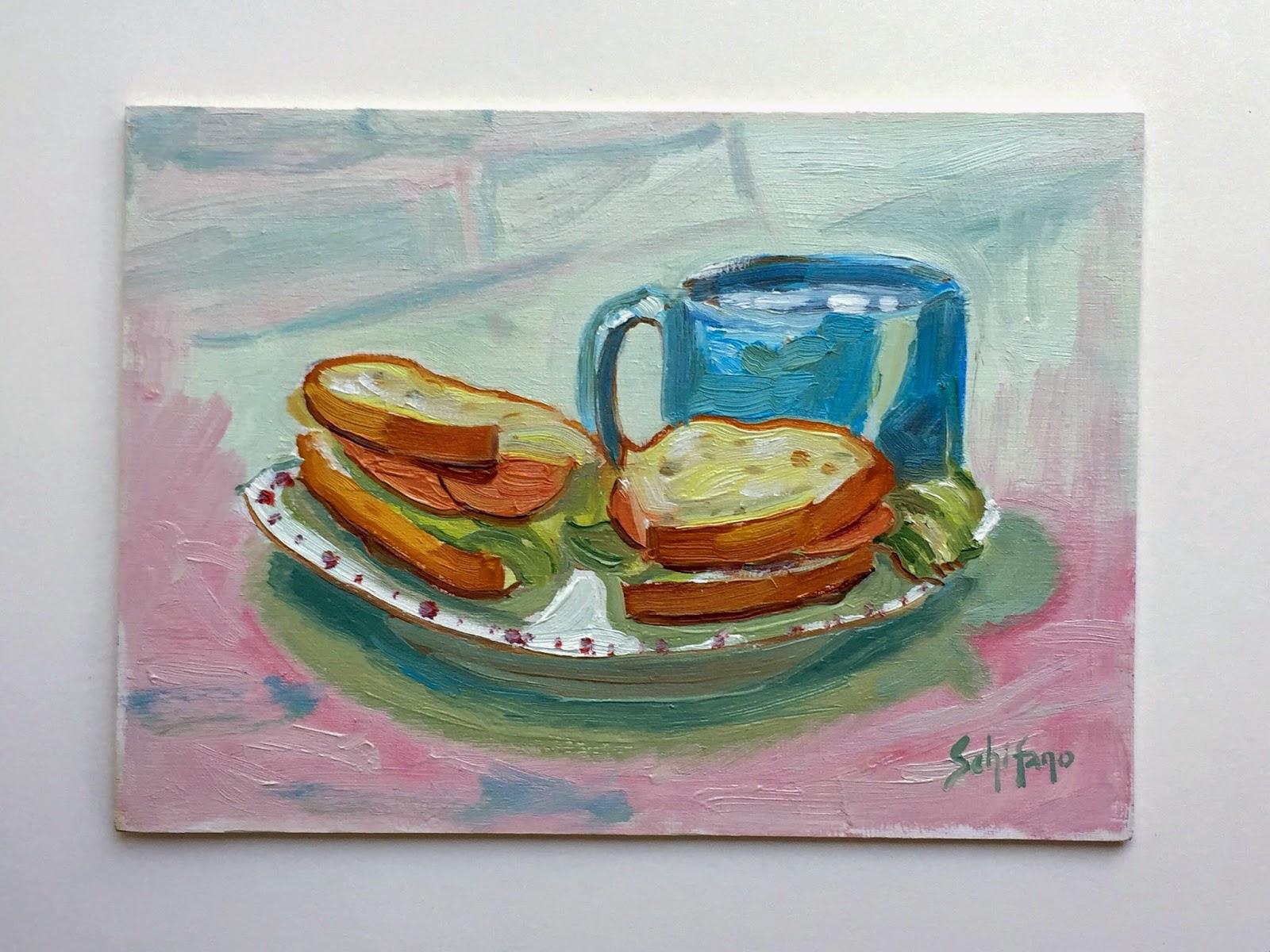 Kath Schifano, Niagara artist, sandwich picture