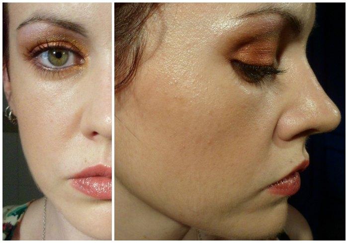 Maquillaje atardecer en tonos naranjas