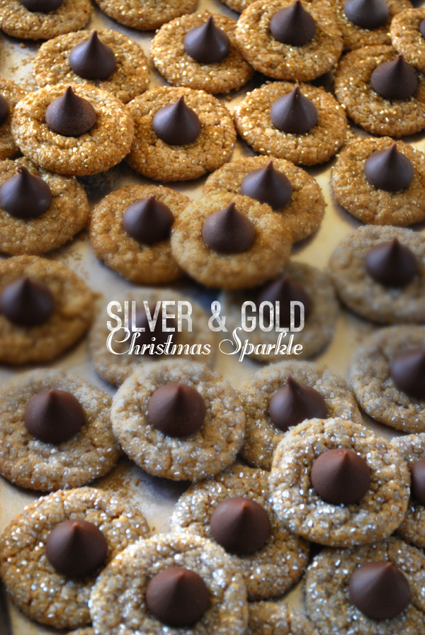 Silver and Gold sprinkles - peanut butter cookies