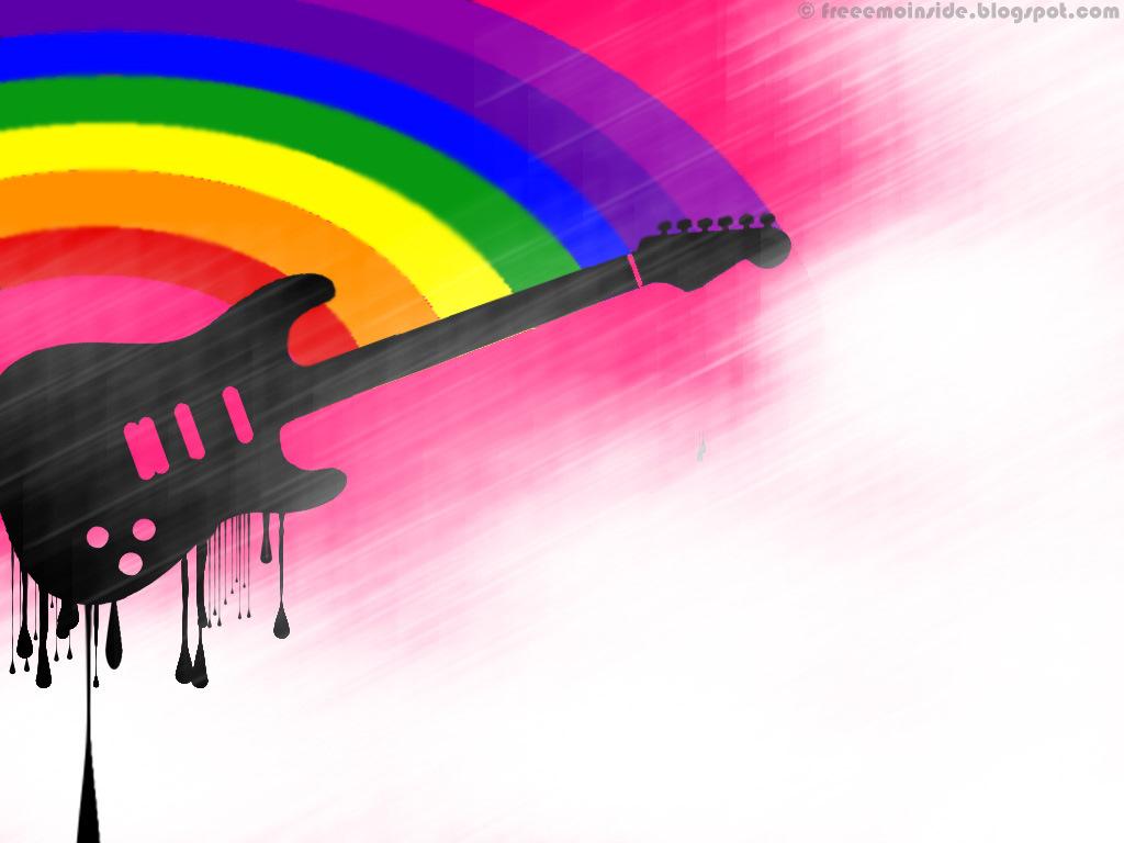 rainbow and black emo wallpaper - photo #3