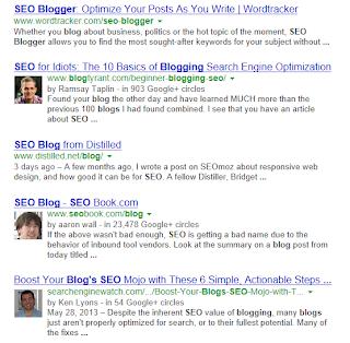 Google Authorship serps