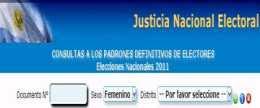 Padrón Electoral 2011 dónde votar elecciones primarias 2011