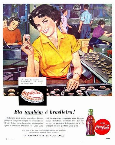 Propaganda brasileira da Coca-Cola nos anos 50.