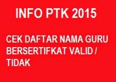 DAFTAR NAMA GURU BERSETIFIKAT VALID DAN TIDAK VALID 2015