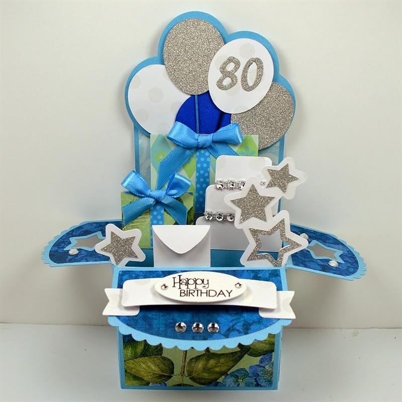 Capadia Designs Happy 80th Birthday Box Card