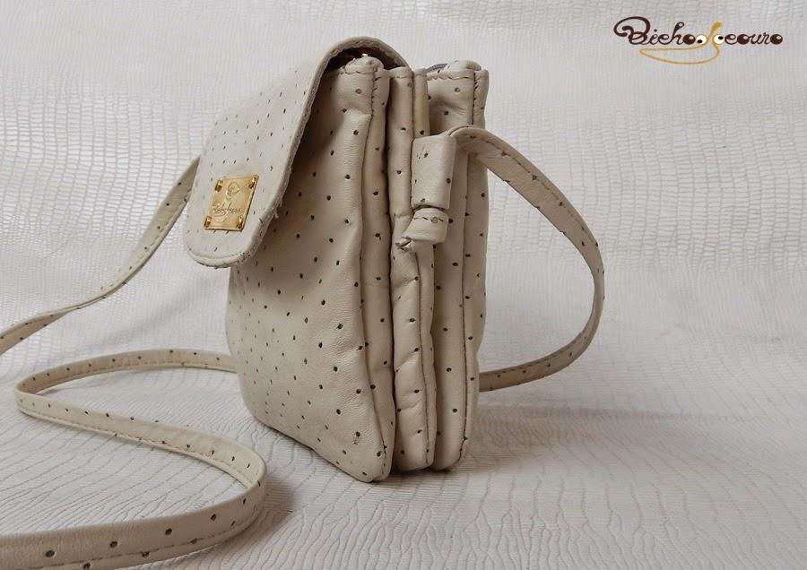 bolsa couro branco arezzo
