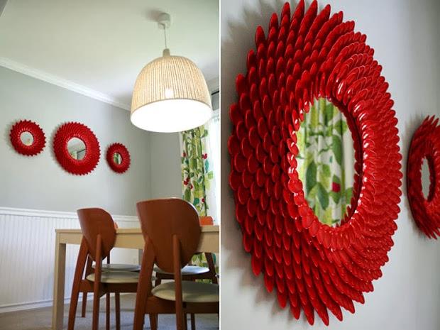 Forma f cil de decorar un espejo portal de manualidades - Como decorar reciclando ...