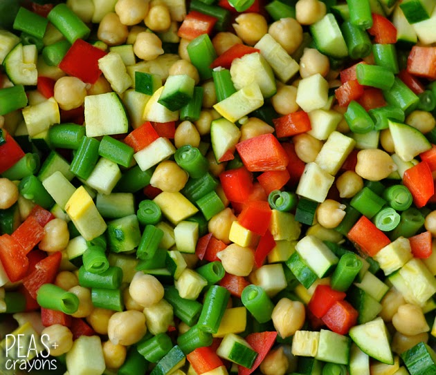 Chopped Beans and Veggies