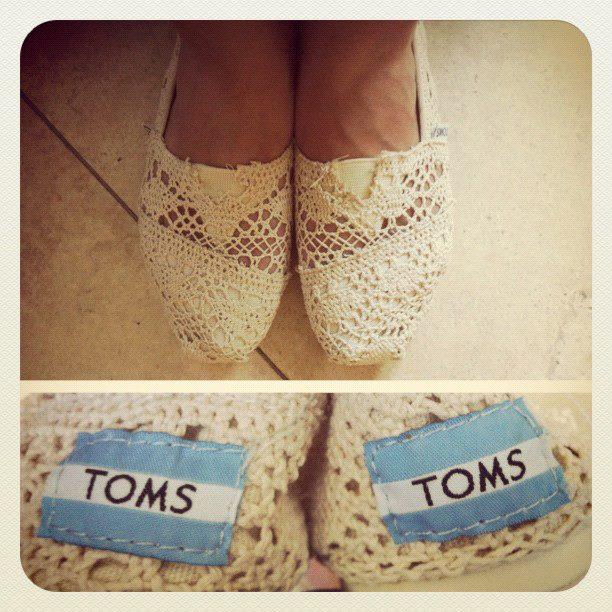 Toms Crochet Shoes Black