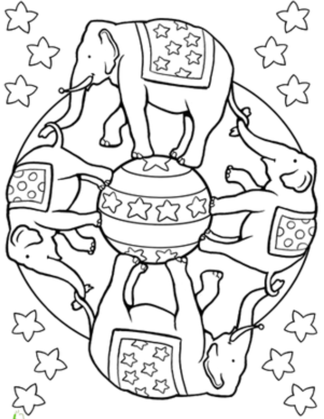 mandala elephant coloring pages easy - photo#25