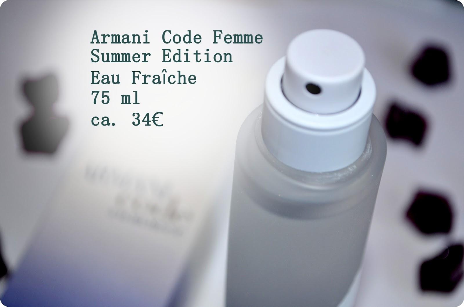 Armani Code Summer Eau Fraiche
