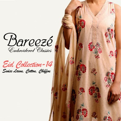 Bareeze Eid Collection 2014 | Swiss Lawn, Cotton and Chiffon Dresses