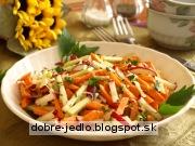 Reďkovkový fitnes šalát - recept