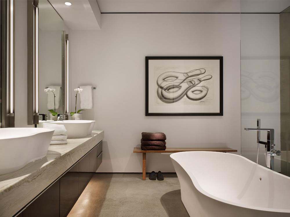 Baños decorados en blanco y negro  Ideas Decoración - IG