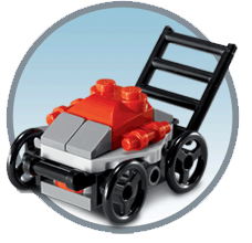 Free Lego Lawn Mower Mini Model Build