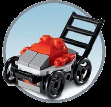 Free Lego Lawn Mower Mini Model Build