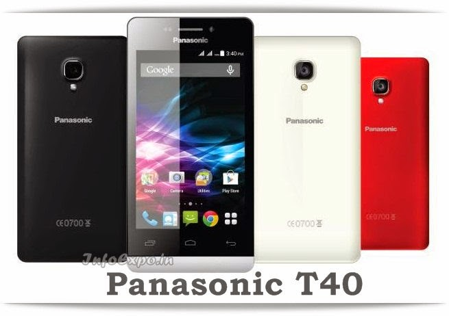 Panasonic T40: 4 inch,1.3GHz Quad core Android Phone Specs, Price