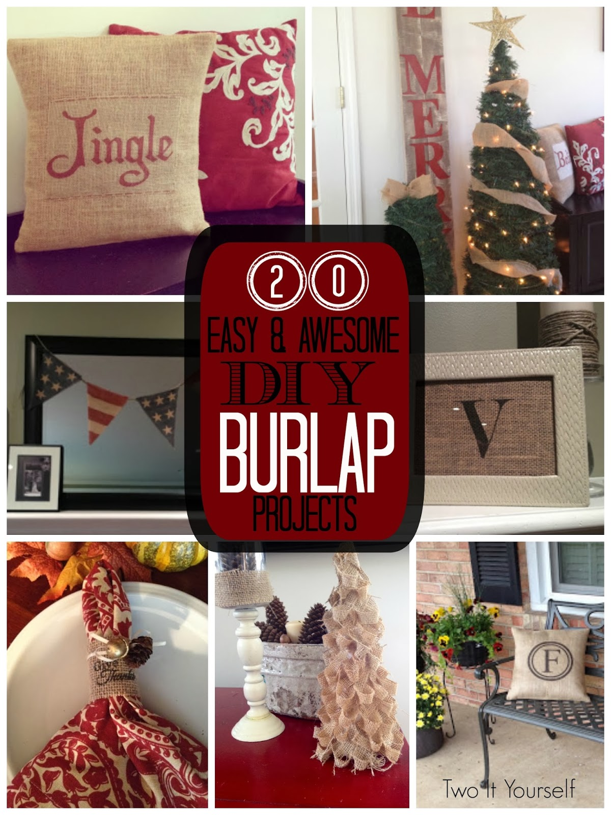 ... It Yourself: 20 DIY Burlap Ideas: For the love of all things burlap