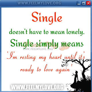 Single doesn't have to mean lonely