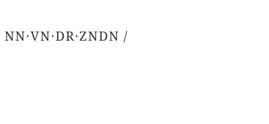 NN·VN·DR·ZNDN /