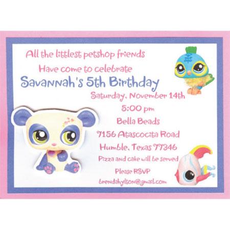 Littlest Pet Shop Invitations Printable Free is beautiful invitation design