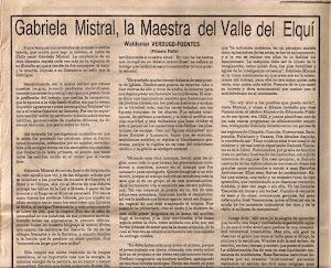 FRAGMENTOS DE CHILE: GABRIELA MISTRAL