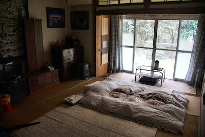 Marueda Kirishima-So bedroom and futon