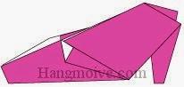 Bước 9: Hoàn thành cách xếp đôi giày, dép cao gót bằng giấy theo phong cách origami.