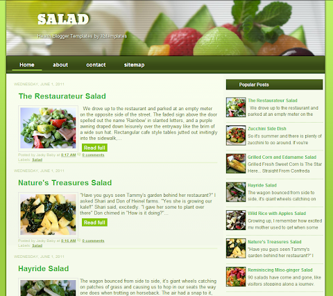 Salad Color Blogger Theme