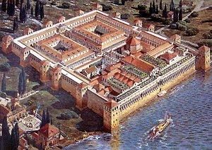 PALACIO DEL EMPERADOR DIOCLECIANO EN SPLIT (RECREACIÓN)