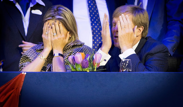 Dutch royals Family attended the 56th edition of Jumping Amsterdam