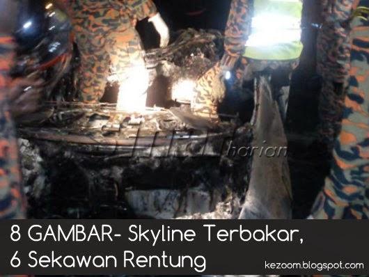 8 GAMBAR- Skyline Terbakar, 6 Sekawan Rentung