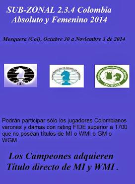 Mosquera (Col) Subzonal 2.3.4 Colombia 2014 (Dar clic a la imagen)