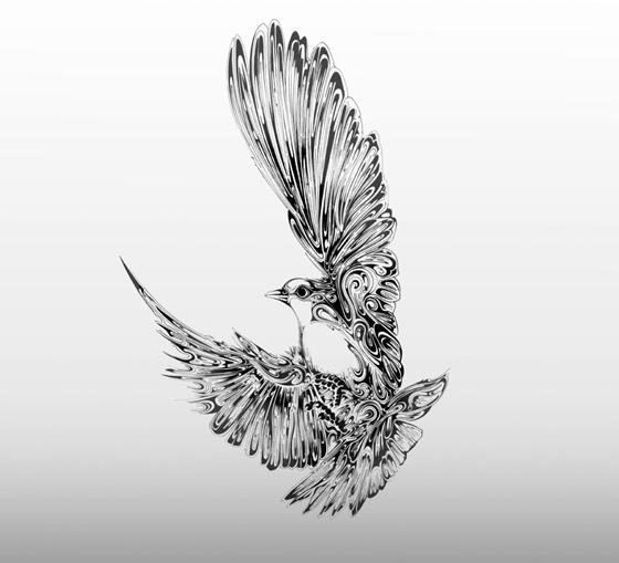 Desenhos em preto e branco de Si Scott - 07