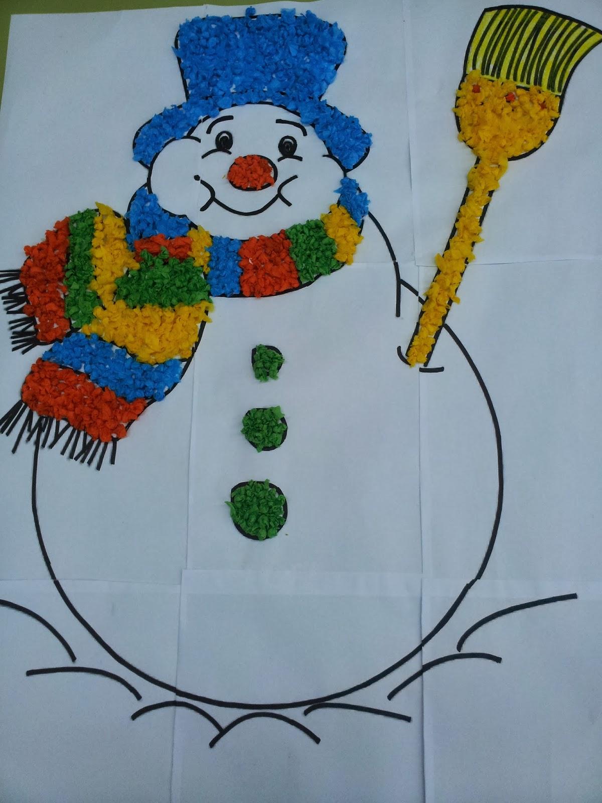 Trabajando en Educación Infantil: Nuestro muñeco de nieve