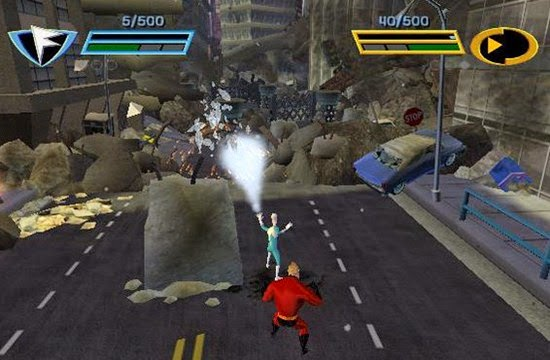 The Incredibles: Rise of the Underminer PS2 Gameplay