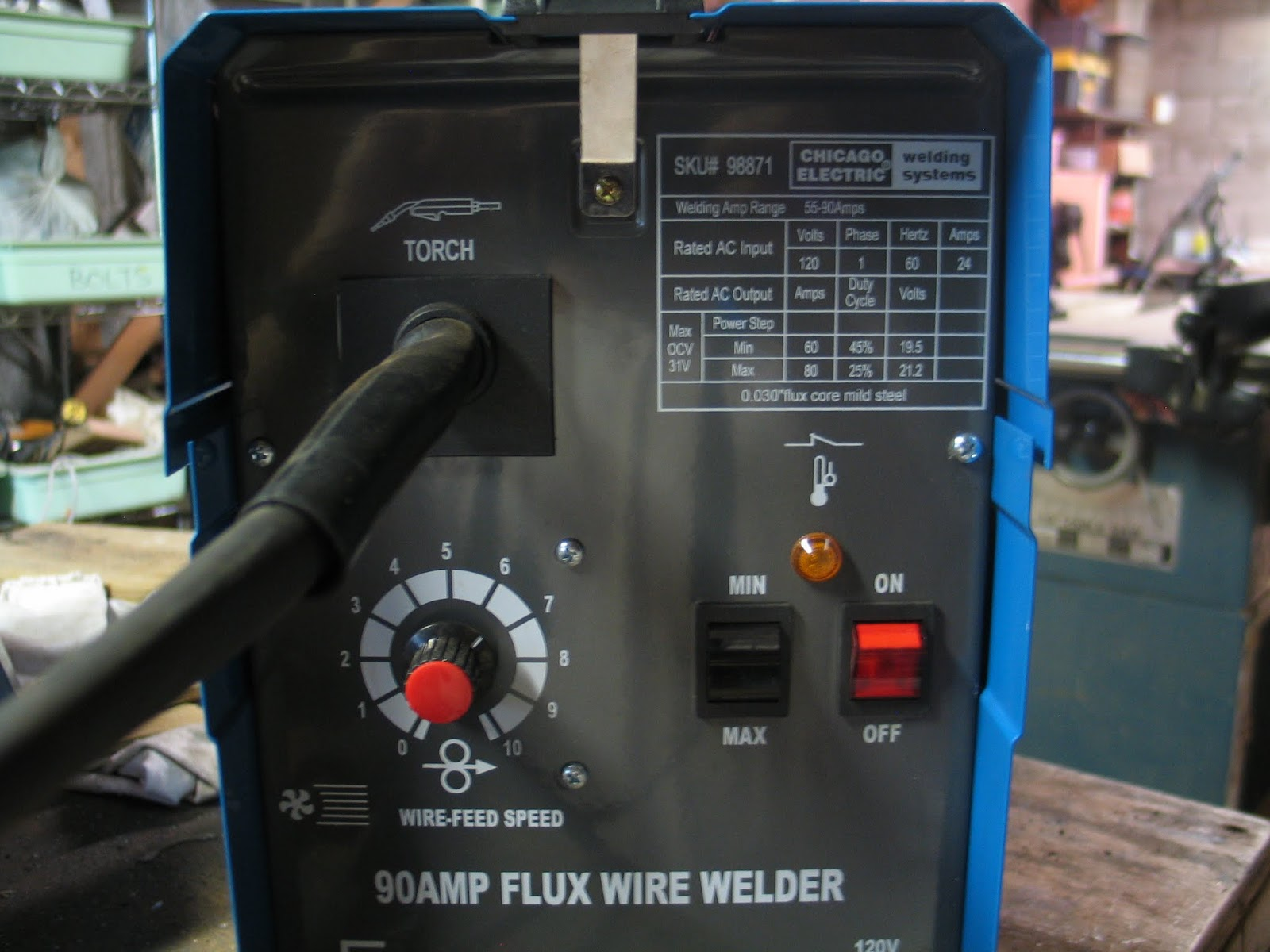 Famous 90 Amp Flux Wire Welder Chicago Electric Crest - The Wire ...